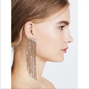 Elizabeth Cole Gold Fringe Earrings